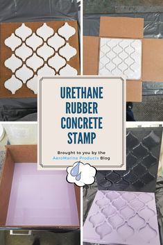 Concrete Stamp Made from Urethane Rubber - Aeromarine Products Inc. Stamped Concrete Designs, Stamped Concrete Driveway, Concrete Bricks, Concrete Molds, Concrete Texture, Concrete Crafts, Cement, Building A Patio, Papercrete