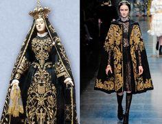 Dolce & Gabanna F/W 2012 - Madonna Addolorata Sansevero Runway Fashion, High Fashion, Fashion Outfits, Womens Fashion, Couture Fashion, Madonna, Traditional Fashion, Couture Collection, Costume Design