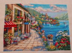 Cross stitch - Overlook Cafe, Gold Collection Petites by Dimensions