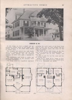 Design K 891 - from Attractive homes by Max L. Keith, Published 1912 192 p. ; ill., plans ; 26 cm. ; trade catalog