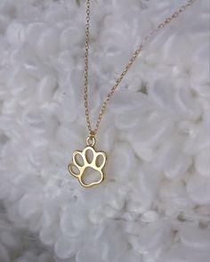 Łapka Psa - pozłacany naszyjnik z misją - cały dochód przekazywany jest na karmienie i leczenie zwierzaków w Zwierzopcji!
