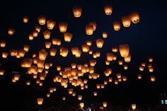 I want to set off floating lanterns...what a sight that would be in real life!