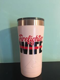 Firefighter Wife Insulated Tumbler, Police Wife Insulated Tumbler, Firefighter Girlfriend Insulated Tumbler, Police Girlfriend Tumbler by ChickenCoopGifts on Etsy
