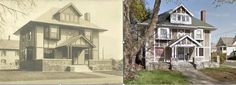Ansonia-  204 Wakelee Avenue-then and now, almost 100 years between the photos.
