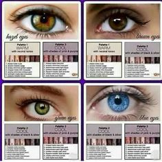 Best Younique eye shadow colors based on your eye color https://www.youniqueproducts.com/ChristyMParker
