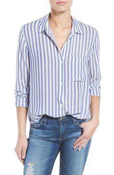 Blue/Whie Stripe, size Small - Rails Aly Stripe Shirt