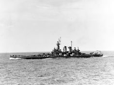 80-G-358634: USS Washington (BB-56). Underway at sea, 28 May 1944. Official U.S. Navy Photograph, now in the collections of the National Archives.