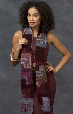 Mitered Square Scarf Knitting Pattern | free pattern from Red Heart