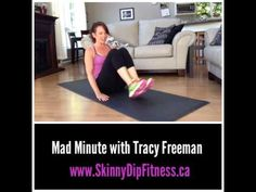 AB WORKOUT - Mad Minute with Tracy Freeman. Don't be scared, of this Ab workout, it's ONLY a minute.  Love working out with Tracy? Get an instant download of her complete nutrition and fitness plans at www.skinnydipfitness.ca #coreworkout #flatbellyworkout #absworkout #sixpack #weightwatchers