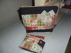 Kit necessaire (Coisando as Coisas by Clau) Tags: jeans porta kit patchwork necessaire absorvente