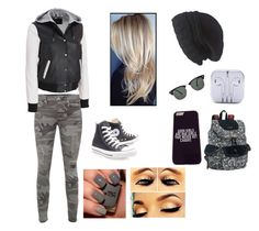 """""""Outfit!"""" by gomez90 ❤ liked on Polyvore featuring True Religion, Black Rivet, Laundromat, Sakroots, Ray-Ban and Converse"""