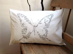 Hand Stamped Butterfly Pillow. #Lupus #Sjogrens #spoonie #spoontheory #Autoimmune