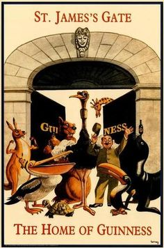 Guinness Paper Posters Guinness posters have been around for a very long time. The Guinness paper posters here are imported from Ireland and Retro Ads, Vintage Advertisements, Vintage Ads, Vintage Posters, Vintage Food, Guinness, Beer Poster, Poster Ads, Sous Bock