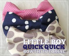 baby boy quick bowties..{tutorial and free printable bag toppers download} - Kiki & Company