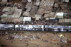 Happening created 2009 in Kibera, Nairobi, Kenya by the French artist JR.