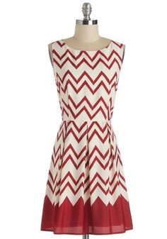 1960s style plus size dress- Interviews at the Party Dress in Red