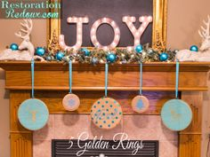 5 Golden Rings Embroidery Hoops Project by @RestoreRedoux   5 Golden Ring Ideas