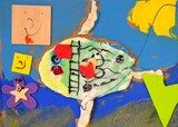 Only One You Fish Model Magic Collage - Grade 1