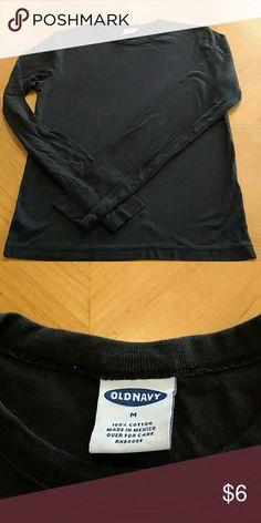 Old navy long sleeved black shirt. Old Navy long sleeved black shirt. Excellent condition. Smoke free home. Size medium womens. Old Navy Tops Tees - Long Sleeve