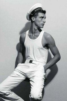 Clement Chabernaud shot by Glen Luchford for Vogue Hommes International Spring/Summer 2011