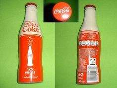 Coca Cola 125 Years Edition  ALU Flasche/bottle/bouteille/bottiglia SELTEN/RARE