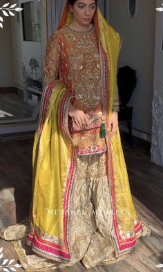 Beautiful Pakistani Dresses, Pakistani Formal Dresses, Pakistani Dress Design, Indian Dresses, Pakistani Mehndi, Dulhan Dress, Walima Dress, Shadi Dresses, Bridal Mehndi Dresses