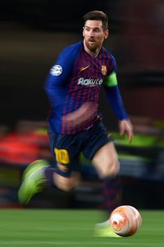 Lionel Messi of FC Barcelona in action during the UEFA Champions League Round of 16 Second Leg match between FC Barcelona and Olympique Lyonnais at Nou Camp on March 2019 in Barcelona, Spain. Get premium, high resolution news photos at Getty Images Messi Team, Messi 10, Fc Barcelona, Uefa Champions League, Star Trek Posters, Neymar Football, Leonel Messi, Sports Images, Action