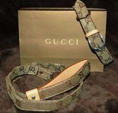 Gucci Dog Collar and Leash Set