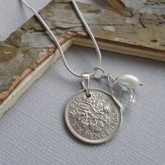 50th Birthday Gift For A Woman 1966 Genuine British Lucky Sixpence Necklace Sterling Silver Present