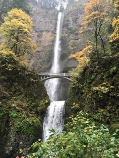 Multnomah Falls, Portland November 2015 Travel Stamp, Multnomah Falls, November 2015, Portland, Waterfall, Stamps, Outdoor, Waterfalls, Stamping