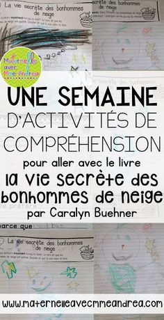 Using French read-alouds to teach reading strategies - ideas for the book La vie secrète des bonhommes de neige How To Speak French, Learn French, Reading Strategies, Reading Comprehension, Teaching Reading, Teaching Kids, French Articles, French Resources, Study French