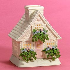 """Department 56: Products - """"The Springtime Cottage"""" Votive Candle House - View Products"""