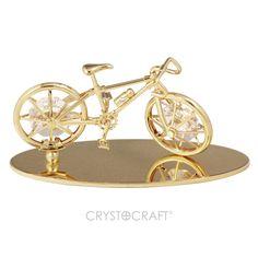 Bicicleta vintage banhada a ouro 24K com cristais SWAROVSKI