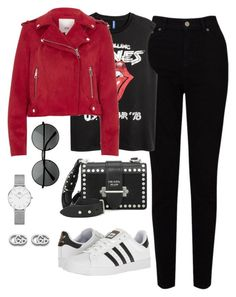 """""""Untitled #4121"""" by magsmccray ❤ liked on Polyvore featuring EAST, River Island, Prada, adidas, Daniel Wellington and Gucci"""