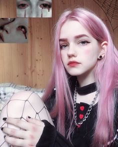 Pin by انا سمسم on ulzzang girl in 2019 Grunge Girl, Dye My Hair, Aesthetic Girl, Kawaii Girl, Tumblr Girls, Ulzzang Girl, Pink Hair, Lace Front Wigs, Hair Lengths