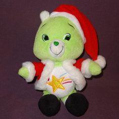 "Oopsy Bear Santa Claus Care Bears Stuffed Plush Animal 9"" 2007 Christmas Green #CareBears #Christmas"
