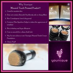 Touch Pressed Powder! This is another BRAND NEW Spring Launch Product! Younique's latest in complete complexion coverage, Touch Mineral Pressed Powder is an ultra-fine, long-wearing, and breathable foundation powder that provides a beautiful, touchable, even finish. Comes in 10 shades. Http://www.Youniqueproducts.com/CharlotteAnnOrtega