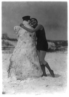 Melting the snowman. 1920s?