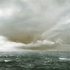 Gerhard Richter: Sea piece (cloudy), 1969, Oil on canvas, 200 x 200 cm, Loaned by Private Collection, Berlin, © Gerhard Richter, Photograph J. Littkemann.