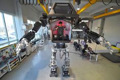 South Korean robotics manufacturer Hankook Mirae Technology debuted its first prototype piloted mech over the weekend. It stands 13-feet tall, weighs 1.3 tons and wields a pair of 286-pound, motion-tracking metal arms.