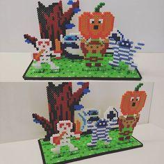 3D Halloween Link perler bead scene by josephexplosiv