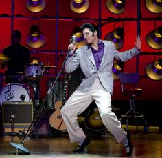 "Frequently pinned as ""ELVIS"" - this photo is of Cody Slaughter as Elvis, in MILLION DOLLAR QUARTET"