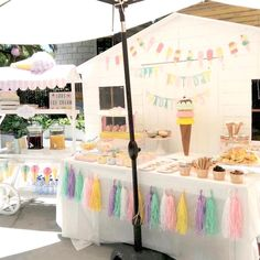 Partyscape from Pastel Ice Cream Party at Kara's Party Ideas. See more at karaspartyideas.com!