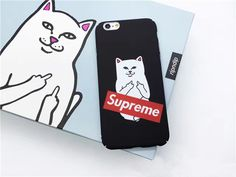 Supreme Mittelfinger Katze all cover Schutzcase für Apple6/6plus/7/7plus