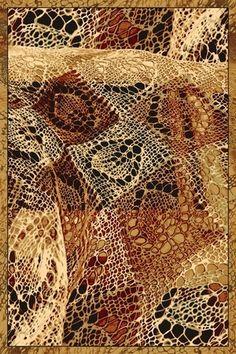 Kusový vlněný moderní hnědý koberec Agnella Isfahan Cypria - Kobercový ráj