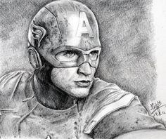 Captin America.................... can u belive I drew this?