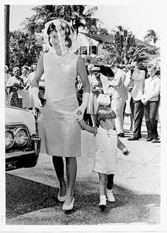 Jackie Kennedy at Sunday morning Mass with her son, John F. Kennedy Jr