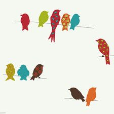 "Bistro 750 33' x 20.5"" Birds Wildlife Wallpaper"