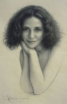 """""""Jen"""" by Andrew Lattimore, beautiful female portrait, charcoal on paper drawing. Nice expression and shading. andrewlattimore.com"""