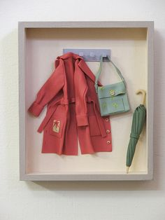 Fimo made by Edith Fisher Katz Dollhouse Dolls, Miniature Dolls, Dollhouse Miniatures, Clay Crafts, Fun Crafts, Minis, Shadow Box Art, Polymer Clay Miniatures, Wall Art Designs